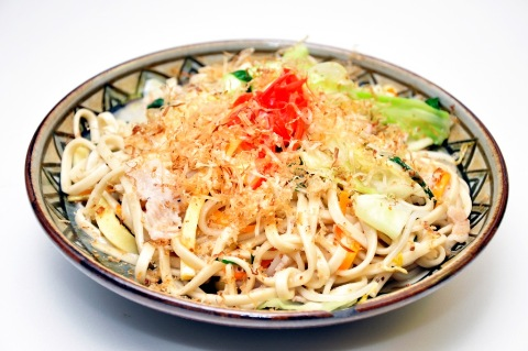 Okinawan style fried Chinese noodles