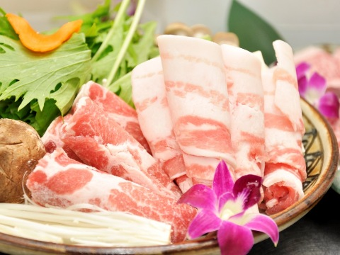 Agu pork shabu shabu (Japanese hot pot)