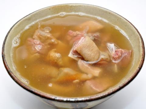 Yagi jiru (goat soup)